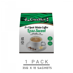 Chek Hup 3 in 1 Ipoh White Coffee (Less Sweet) (35g x 12 sachets)