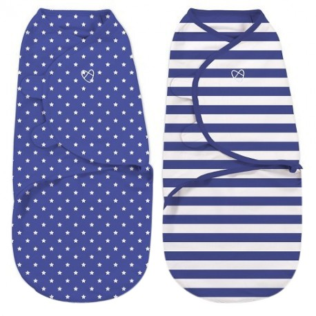 Summer Infant Swaddle 2pcs (Navy Star Rugby)