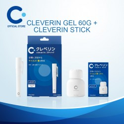 Cleverin Gel 60g + Cleverin Stick (with 2 refills) Air Sanitiser/ Air Sanitizer/ Air Purifier/ Disinfectant