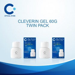 Cleverin Gel 60g (Twin Pack) Air Sanitiser / Sanitizer / Antibacterial / Disinfect / Air Purifier / Disinfectant / Antiseptic)