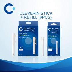 Cleverin Stick Pen Type + Refill Pack 6pcs Set (Air Sanitiser / Sanitizer / Antibacterial / Disinfect / Air Purifier)