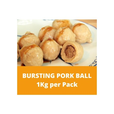 CN Frozen Bursting Pork Ball (Sold per Kg) CN Frozen Frozen Pork Steamboat Meat Ball Non Halal Chinese Cooking Bursting Meatball