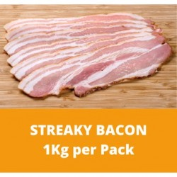 CN Frozen Streaky Bacon (Sold per Kg) CN Frozen Frozen Pork Chinese Cooking Non Halal Bacon