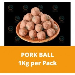 CN Frozen Pork Ball (Sold per Kg) CN Frozen Meatball Non Halal Steamboat Frozen Meat