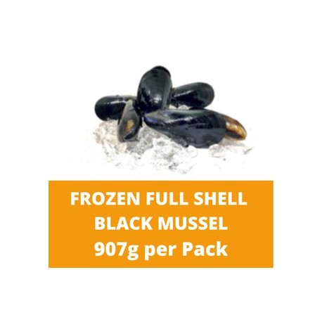 CN Frozen Full Shell Black Mussels 907g per Pack CN Frozen Seafood Shellfish Fish
