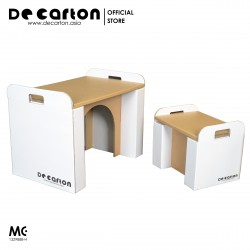 De Carton Cardboard Table and Chair Set for Kids