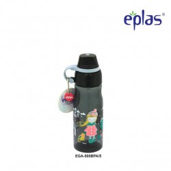 Eplas Kids Water Bottle with Silicone Handle 500ml (EGA-500BPA/Black)