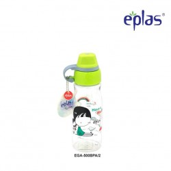 Eplas Kids Water Bottle with Silicone Handle 500ml (EGA-500BPA/Green)