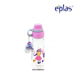 Eplas Kids Water Bottle with Silicone Handle 500ml (EGA-500BPA/Purple)