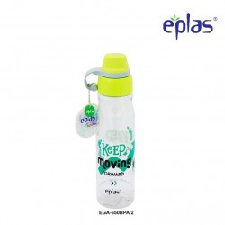 Eplas Leisure Water Bottle with Silicone Handle 650ml (EGA-650BPA/Green)