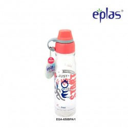Eplas Leisure Water Bottle with Silicone Handle 650ml (EGA-650BPA/Pink)