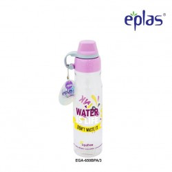 Eplas Leisure Water Bottle with Silicone Handle 650ml (EGA-650BPA/Purple)