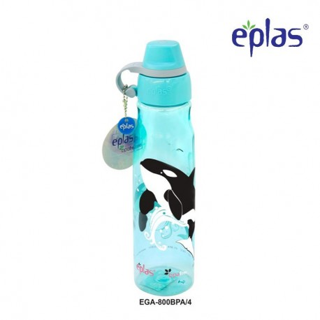 Eplas Leisure Water Bottle with Silicone Handle 800ml (EGA-800BPA/Blue)