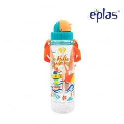 Eplas Kids Water Bottle with Straw & Strip 550ml (EGB-550BPA/Orange)