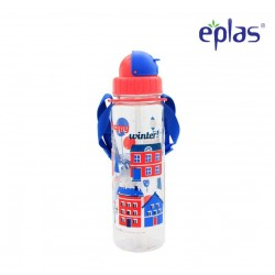 Eplas Kids Water Bottle with Straw & Strip 550ml (EGB-550BPA/Red)