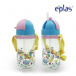 Eplas Kids Water Bottle with Straw & Removable Strip 480ml (EGBQ-480BPA/Blue)
