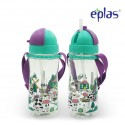 Eplas Kids Water Bottle with Straw & Removable Strip 580ml (EGBQ-580BPA/Green)
