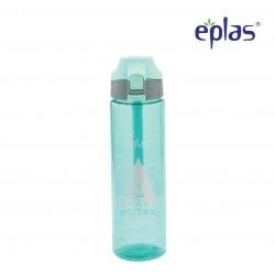 Eplas Water Bottle with Push Button Cover & Silicone Handle 750ml (EGD-750BPA/BlueAForLife)