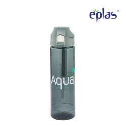 Eplas Water Bottle with Push Button Cover & Silicone Handle 750ml (EGD-750BPA/BlackAqua)