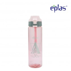 Eplas Water Bottle with Push Button Cover & Silicone Handle 750ml (EGD-750BPA/PinkAForLife)