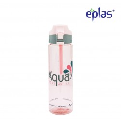 Eplas Water Bottle with Push Button Cover & Silicone Handle 750ml (EGD-750BPA/PinkAqua)
