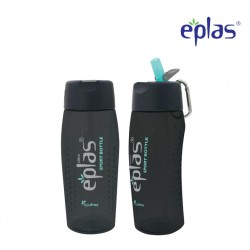 Eplas Sport Water Bottle with Straw & Handle 600ml (EGM-600BPA/Black)