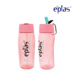 Eplas Sport Water Bottle with Straw & Handle 600ml (EGM-600BPA/Pink)