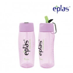 Eplas Sport Water Bottle with Straw & Handle 600ml (EGM-600BPA/Purple)