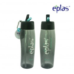 Eplas Sport Water Bottle with Straw & Handle 800ml (EGM-800BPA/Black)