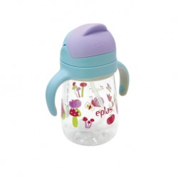 Eplas Baby Anti-Choke Sippy Cup with Straw 450ml (EGQ-450BPA-4Mushroom)
