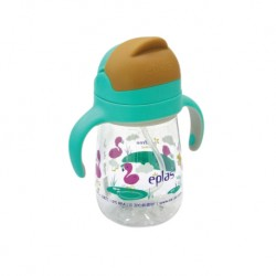 Eplas Baby Anti-Choke Sippy Cup with Straw 450ml (EGQ-450BPA-6Flamingo)