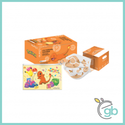 Durio 546K Pokemon Surgical Face Mask Charmander (Kids, 40pcs/box, Face Mask Keeper and DIY Paper Toy Included)