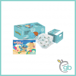 Durio 546K Pokemon Surgical Face Mask Squirtle (Kids, 40pcs/box, Face Mask Keeper and DIY Paper Toy Included)