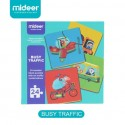 Mideer 4pcs Wood Puzzle (Busy Traffic)