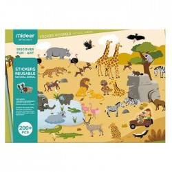 Mideer New Reusable Stickers Book Game Pad (Animal)