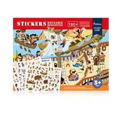 Mideer New Reusable Stickers Book Game Pad (Ancient)