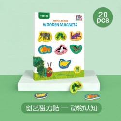 Mideer x Eric Carle Cognitive Wooden Magnetic Board (Animal Cognition)