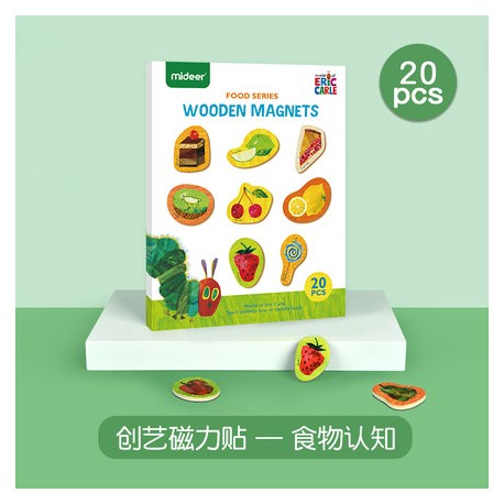 Mideer x Eric Carle Cognitive Wooden Magnetic Board (Food Cognition)