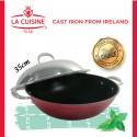 La Cuisine PRO Wok with Stainless Steel Lid 35cm