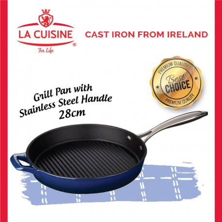 La Cuisine PRO Grill Pan with Stainless Steel Handle 28cm