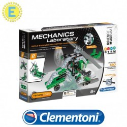 [STEM] Clementoni Science and Play Mech Lab Triple Engined Helicopter and Airboat Mechanics Educational Toys