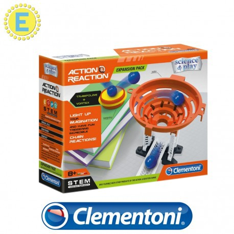 [STEM] Clementoni Science and Play Action and Reaction Expansion Set Trampoline + Vortex  Science Kits