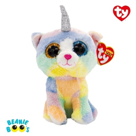 Ty Plush Toys (Malaysia Official) Beanie Boos Large Heather the Cat with Horn Plush Toys