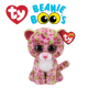 Ty Plush Toys (Malaysia Official)  Beanie Boos Medium  Lainey the Pink / Green Multicolor Leopard