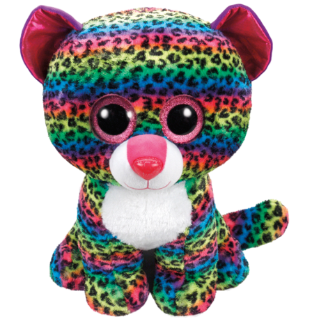 Ty Plush Toys (Malaysia Official) Beanie Boos Large Dotty the Multicolored Leopard Soft Toys