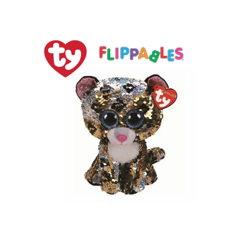 Ty Plush Toys (Malaysia Official) Flippables Regular Sterling the Sequin Leopard Sequins Soft Toys