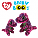 Ty Plush Toys (Malaysia Official) Flippables Regular and Medium Stompy the Pink Purple Sequin Dinosaur Sequins Soft Toys
