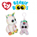 Ty Plush Toys (Malaysia Official) Flippables Clip and Regular Pixy The White Unicorn Sequins Soft Toys