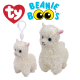 Ty Plush Toys (Malaysia Official) Beanie Boos Clip and Regular Lily the Cream Llama Soft Toys