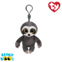 Ty Plush Toys (Malaysia Official) Beanie Boos Clip Dangler the Grey Sloth Soft Toys